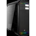 Корпус Aerocool Aero-500G RGB, ATX, без БП, закаленное стекло, RGB-подсветка, USB3.0 x 1, USB2.0 x 2