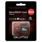 Карта microSD 16GB Qumo SDHC Class10