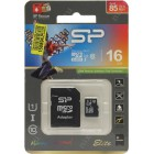 Карта microSD 16GB Silicon SDHC Class10 Elite UHS-I + 1 Adapter (SP016GBSTHBU1V10-SP)
