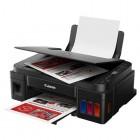 """МФУ Canon PIXMA G3411, 4-цветный струйный СНПЧ принтер/сканер/копир A4, 8.8 (5 цв) изобр./мин., 4800x1200 dpi, подача: 100 лист., USB, Wi-Fi, печать фотографий, печать без полей, ЖК-экран 1,2"""" (Старт.чернила 12000 стр черные, 7000 стр CMY цветные)"""
